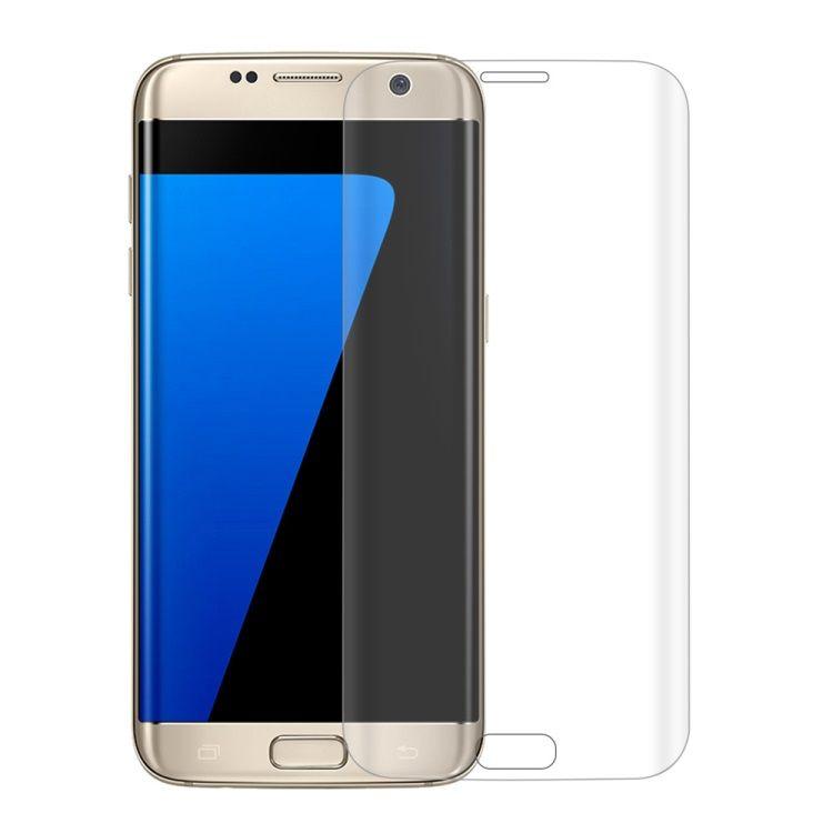 Image of   Galaxy S7 Edge - 0.2mm Eksplosionssikker Fuld Beskyttelse Hærdet Panserglas med Arc Edge