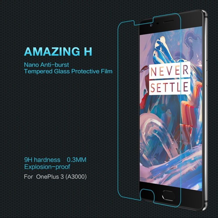 NILLKIN Amazing H for OnePlus 3 / 3T Tempered Glass Screen Protector Anti-Explosion 9H 0.33mm