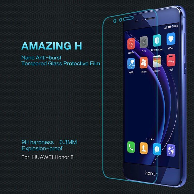 Huawei Honor 8 - Nillkin Amazing H 0.3mm Hærdet Eksplosionssikker Panserglas