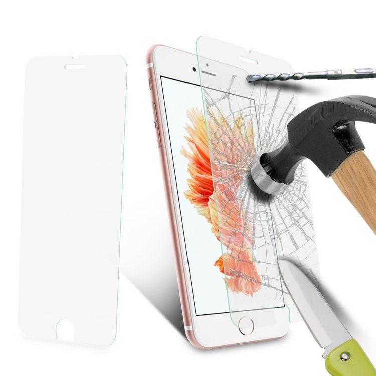 iPhone 8/7 - Klar Tynd 0.3mm Hærdet Panserglas med Arc Edge