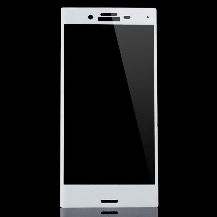 Sony Xperia X Compact - Fuld Beskyttelse Hærdet Panserglas - Hvid
