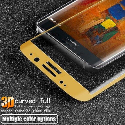 Huawei Mate 9 Pro - IMAK 3D Kurvet Hærdet Panserglas Fuld Beskyttelse - Guldfarve