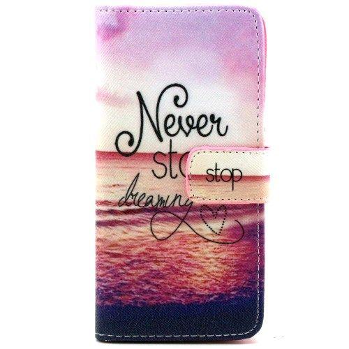 iPhone 6/6S - PU Læder Pung / Etui - Never Stop Dreaming