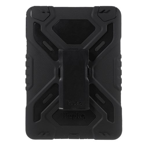 Image of   iPad Air 2 - PEPKOO Spider Serie Ekstra Kraftigt Hybrid Cover - Sort