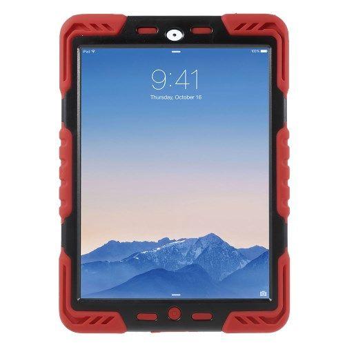 Image of   iPad Air 2 - PEPKOO Spider Serie Ekstra Kraftigt Hybrid Cover - Rød/Sort