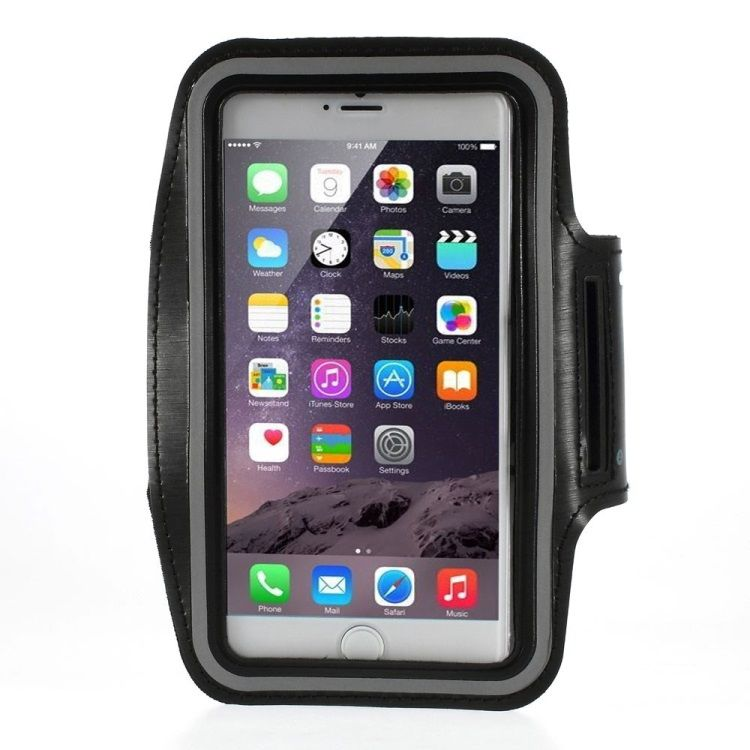 Iphone 6 Plus/6S Plus - Løbe sports armbånd - Sort