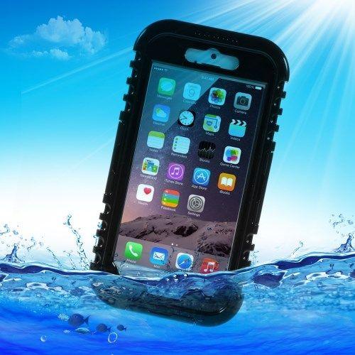 Image of   iPhone 6/6S - Vandtæt og Stødsikker Silikone Etui - Sort