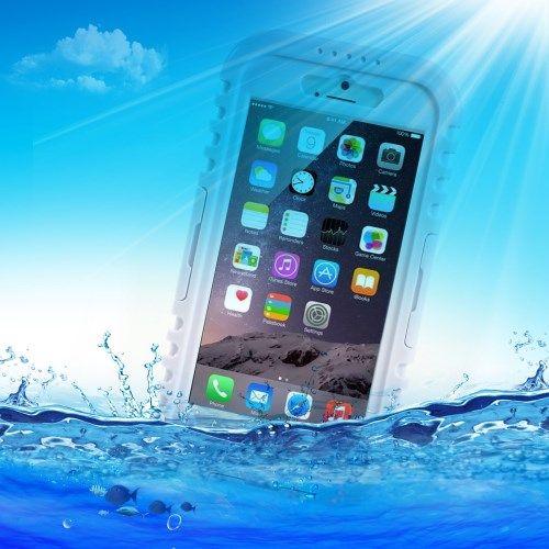 Image of   iPhone 6/6S - Vandtæt og Stødsikker Silikone Etui - Hvid