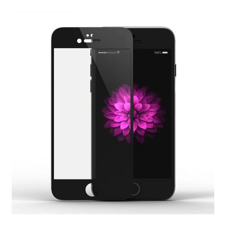 iPhone 6/6s - REMAX Hærdet Panserglas 9H Komplet Beskyttelse med Arc Edge - Sort