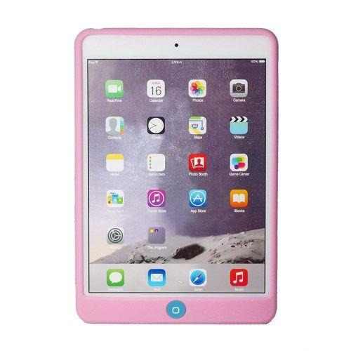 iPad mini 4 - Blød Silikone Etui med Home-knap Beskyttelse - Lyserød