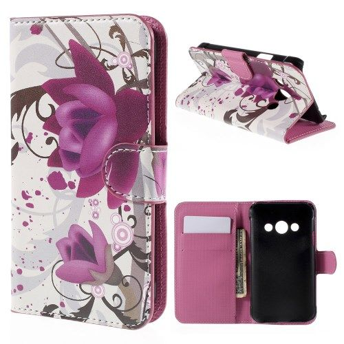 Image of   Galaxy Xcover 3 - Læder Pung/Cover - Kapok Blomster
