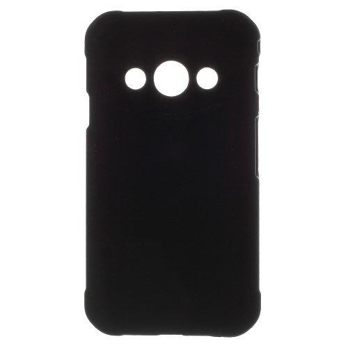 Image of   Galaxy Xcover 3 - Gummibelagt Beskyttende Hard Plastik Etui - Sort