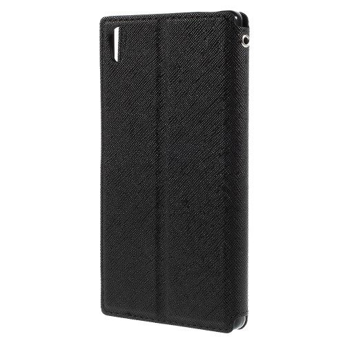 Sony Xperia Z5 / Z5 Dual - ROAR KOREA View Læder Cover - Sort