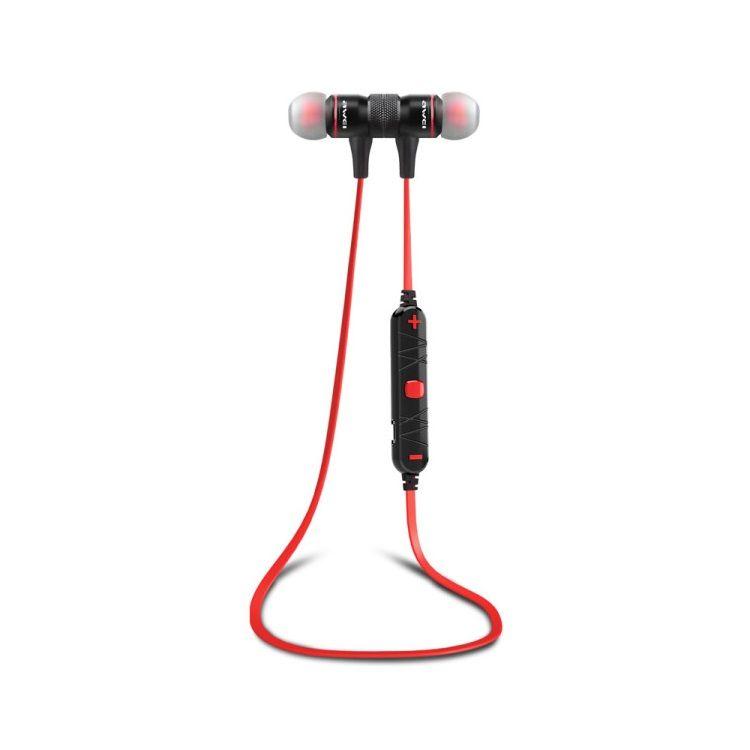 Image of   AWEI A920BL Trådløs Bluetooth 4.0 Sports Stereo Høretelefon - Sort/Rød