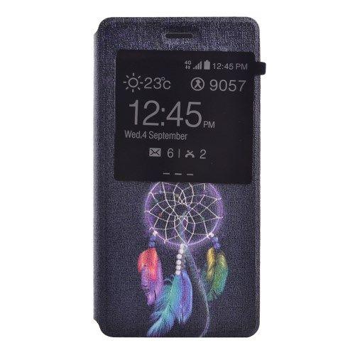 Image of   Huawei Ascend P8 Lite - Velduftende PU Læder Cover med View og Stand - Drømmefanger