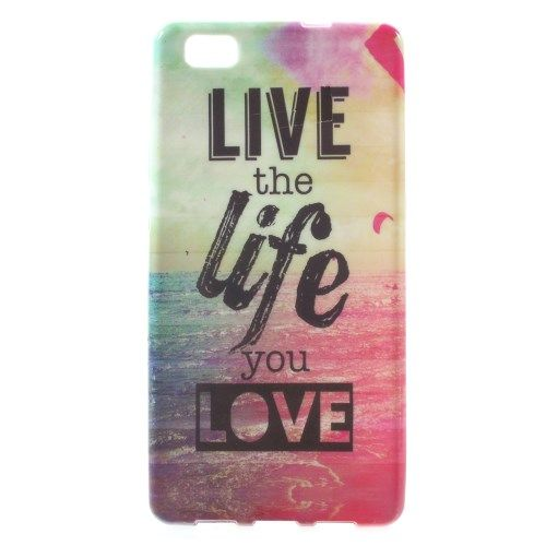 Image of   Huawei P8 Lite - TPU Shell Cover - Landskab og Live The Life You Love