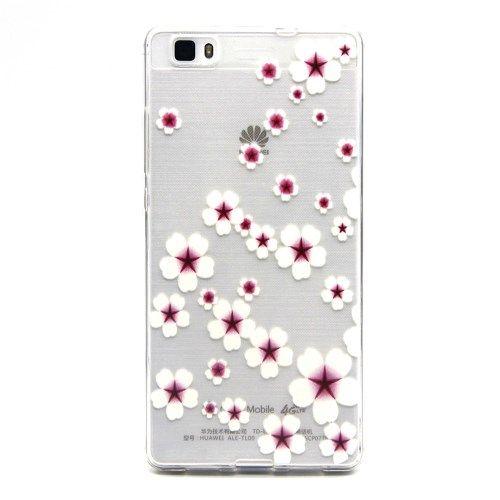 Image of   Huawei Ascend P8 Lite - Præget TPU Gummi Cover - Elegante Blomster