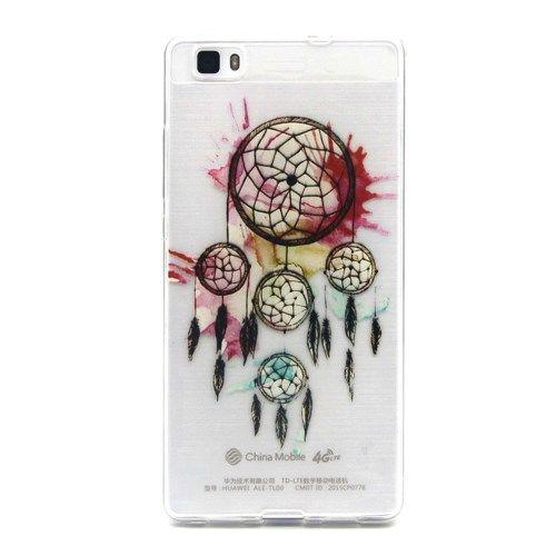 Huawei P8 Lite - Præget TPU Gummi Cover - Drømmefanger