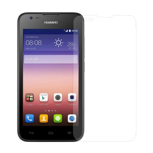 Image of   Huawei Ascend Y550 - 0.3mm Hærdet Panserglas med Arc Edge