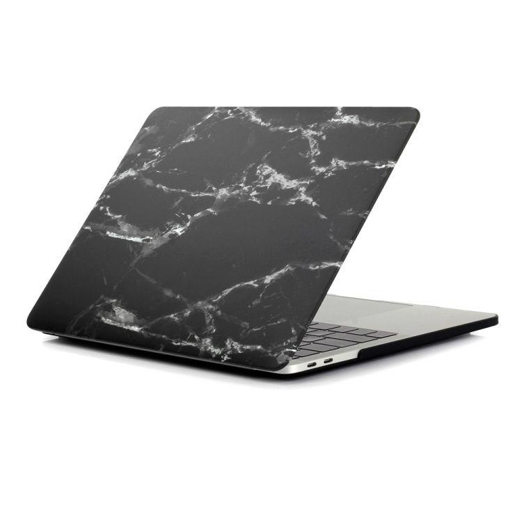 """Image of   MacBook Pro 13""""/13,3"""" (2016-) - Mønstret Hard Beskyttende Cover - Marmor Tekstur / Sort"""