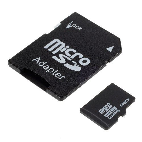 64GB Micro SDHC TF Class 10 Micro Hukommelseskort med SD Adapter