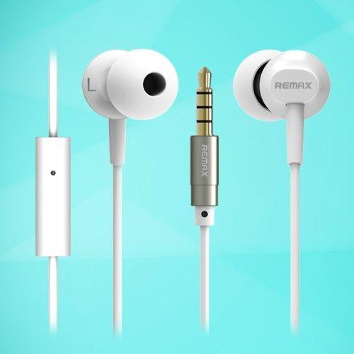 Image of   Remax RM-501 Stereo 3.5mm in-ear Høretelefon med Mikrofon - Hvid