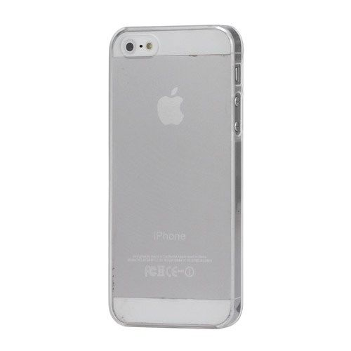 Image of   iPhone 5/5s/SE - Ultra Tyndt 0.5mm Mat Beskyttende Hard Etui Cover - Transparent