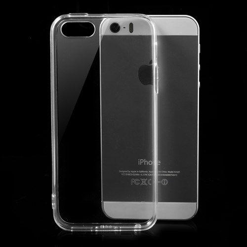 Image of   iPhone 5/5s/SE - TPU Kanter og Krystal PC Back Etui - Transparent