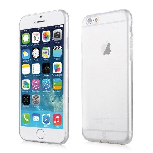 Image of   iPhone 6/6S - Baseus Simple Serie 0.7mm Spinkelt Blødt TPU Etui - Transparent