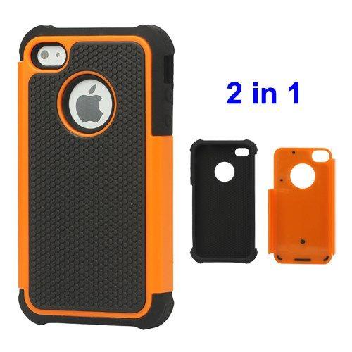 Image of   iPhone 4/4s - Grainer Defender Etui Cover - Orange