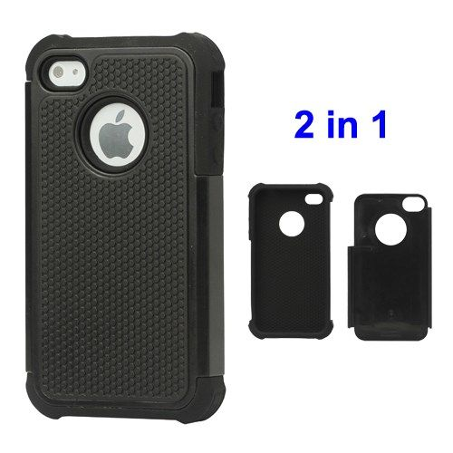 Image of   iPhone 4/4s - Grainer Defender Etui Cover - Sort