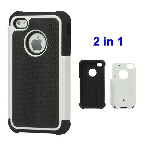 Image of   iPhone 4/4s - Grainer Defender Etui Cover - Hvid
