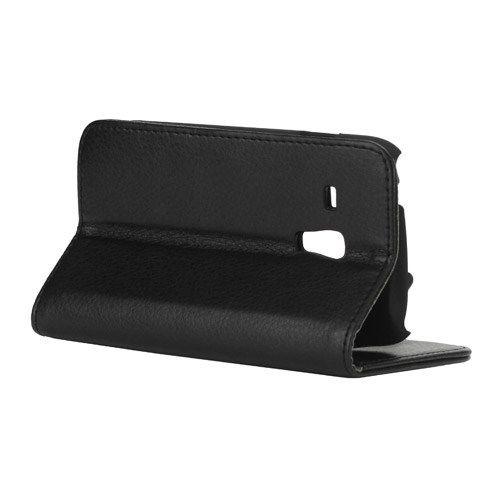 Image of   Galaxy S3 mini - Litchi PU Læder Stand Etui Diary Pung - Sort