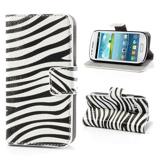 Image of   Galaxy S3 mini - Pung / Etui - Zebrastriber