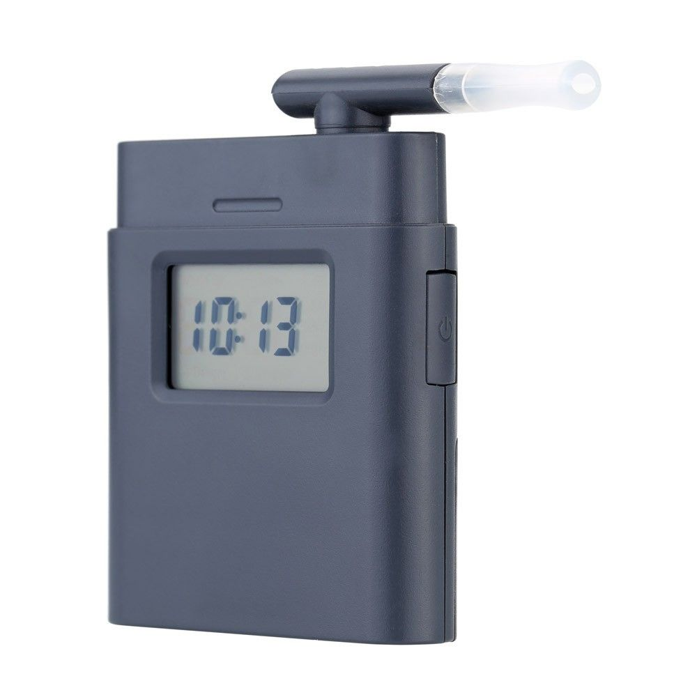 Image of   Alkoholtester / Alkometer - Med digital display & LED backlight - Grå