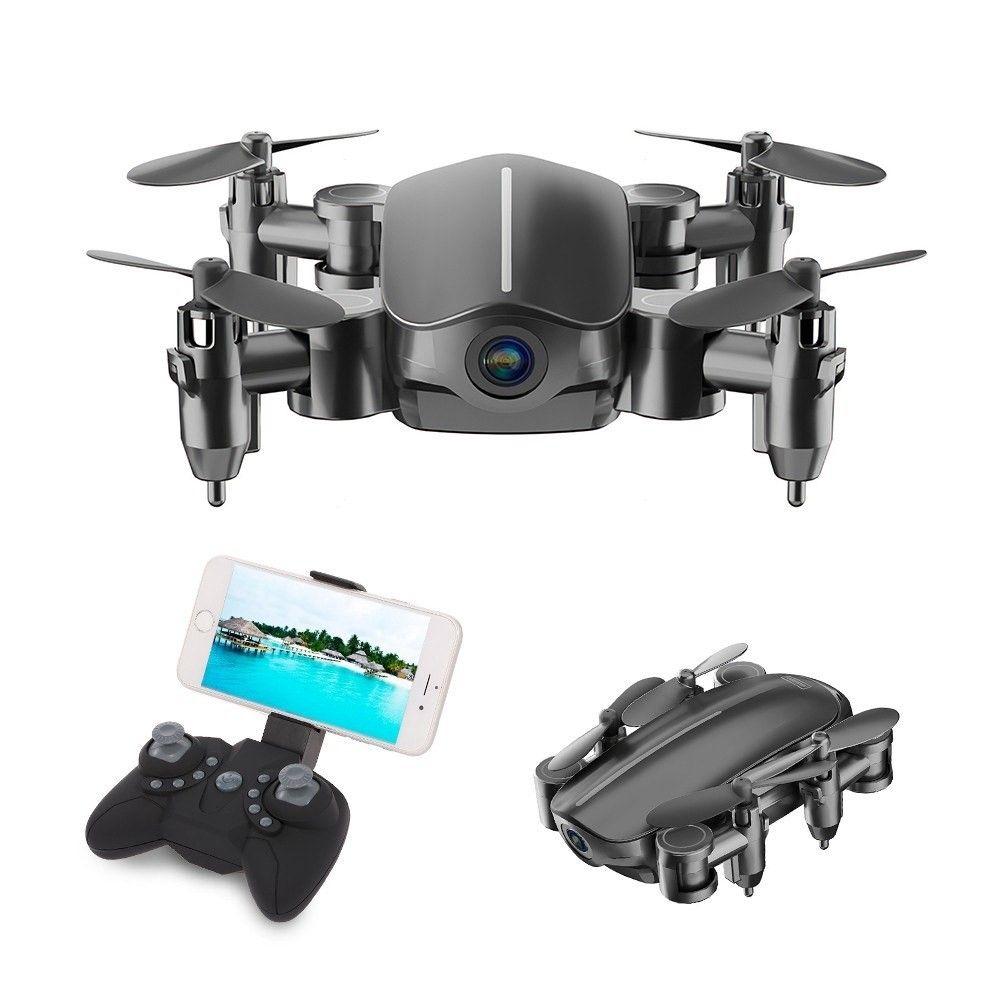 SIHUANDAR – Mini Drone / RC Quadcopter – Med kamera & Fjernbetjening – Sort