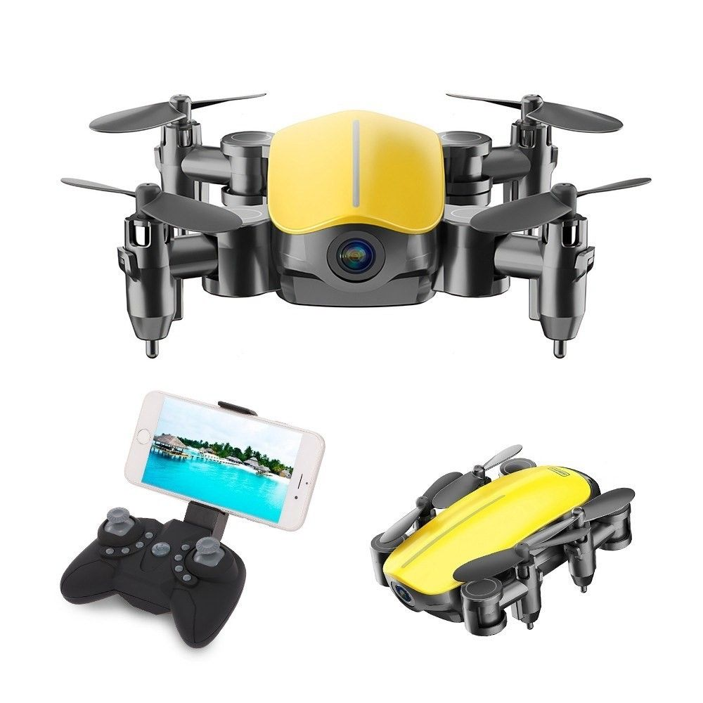 SIHUANDAR – Mini Drone / RC Quadcopter – Med kamera & Fjernbetjening – Gul