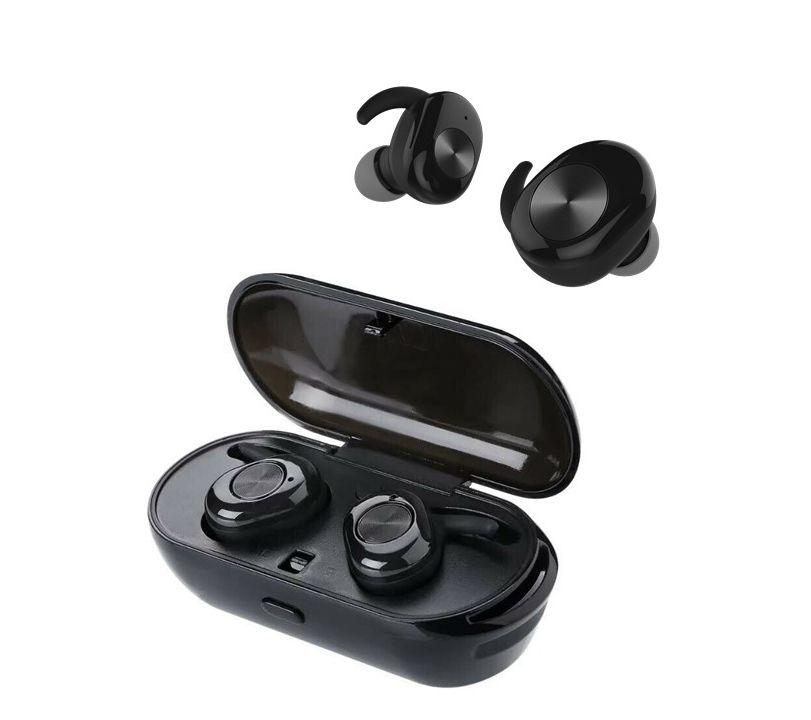 Billede af J3s - TWS EarBuds - Trådløse Bluetooth V5.0 Høretelefoner med opladerbox - Sort