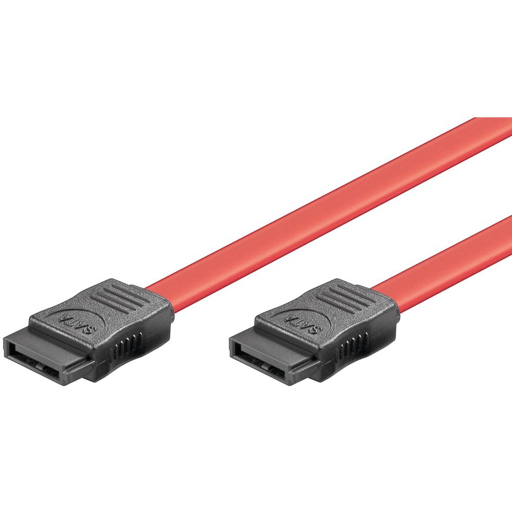 SATA 150/300 kabel - Rød - 0.5 m