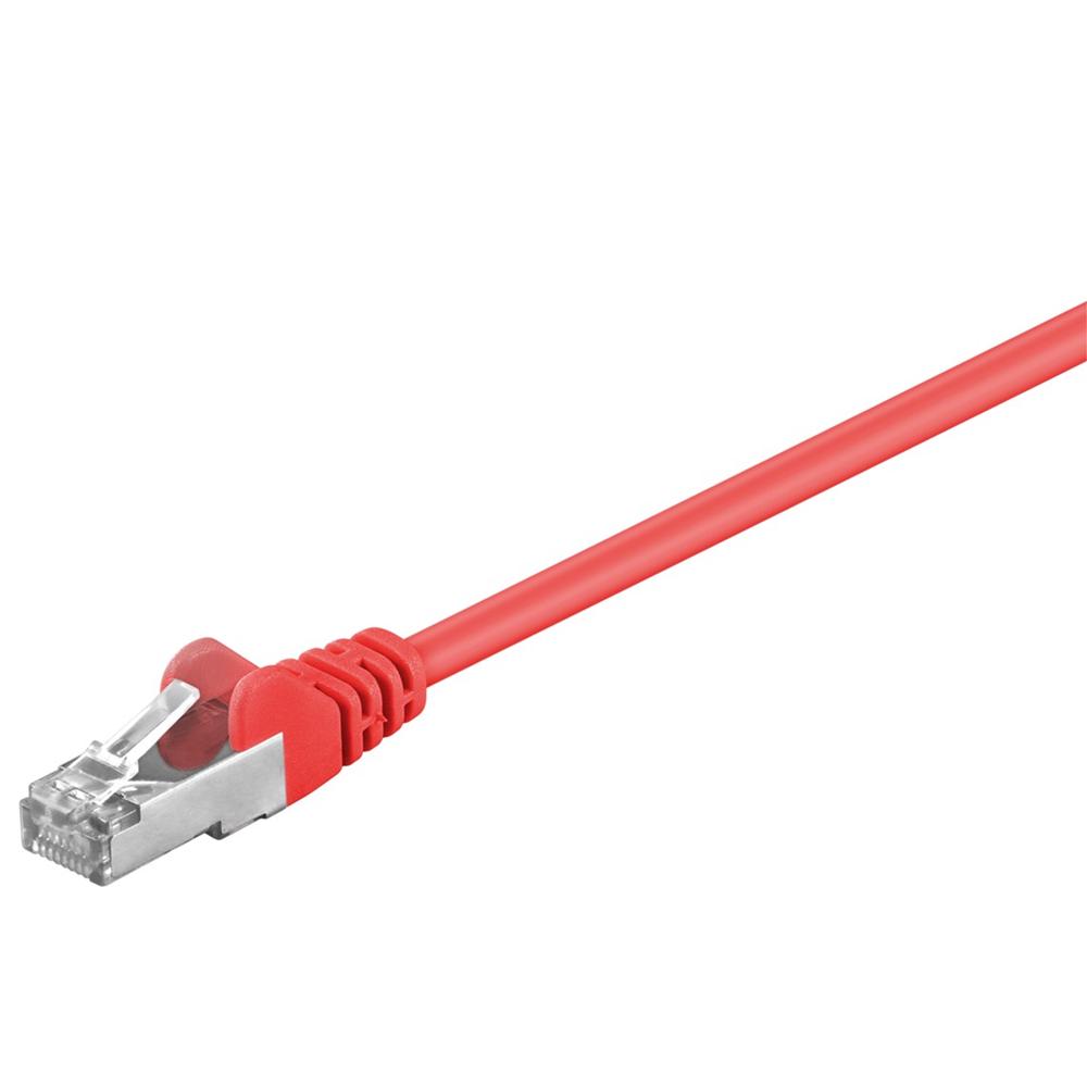 Cat 5e SF/UTP Netværkskabel - Rød - 1 m