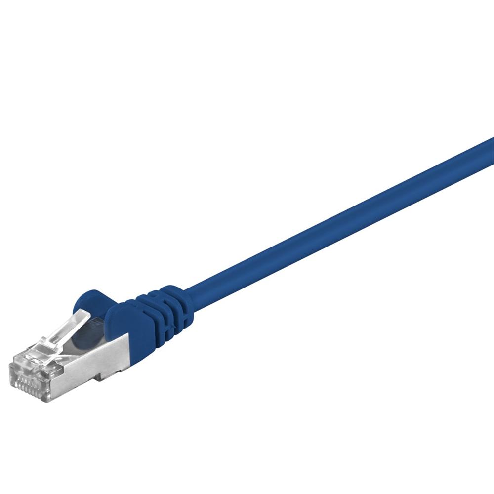 Cat 5e SF/UTP Netværkskabel - Blå - 1 m