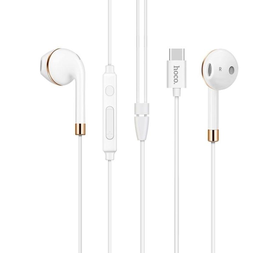 Image of   HOCO - Høretelefoner in ear med Mikrofon & Type-C stik - Hvid