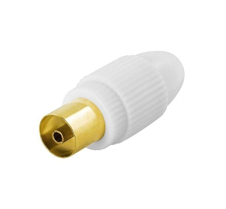 Image of   Antennestik, 9,5mm hun - skruemontering - guldpletteret stik - Livstidsgaranti