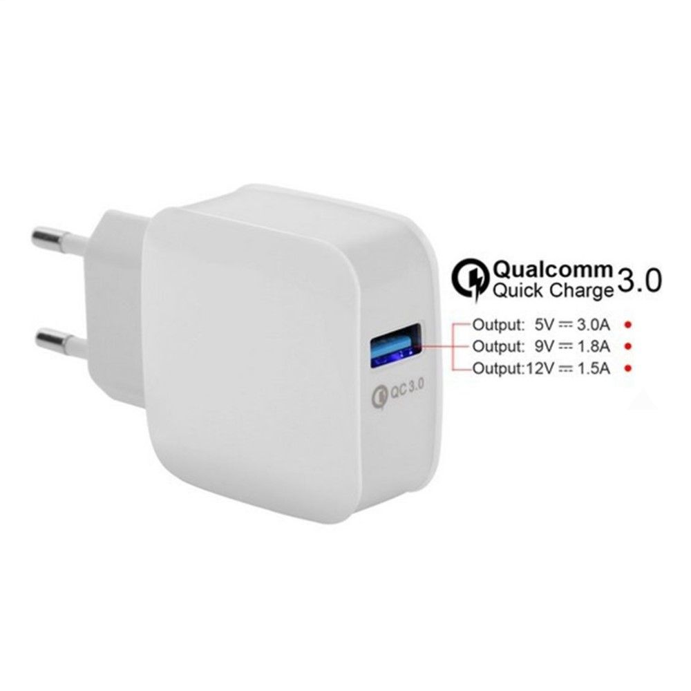 Quick Charge QC 3.0 væg adapter - Hvid